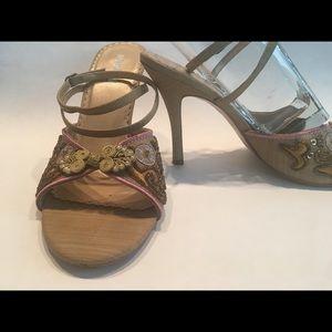 Very Unique, Beaded, Brocade Strappy Sandals